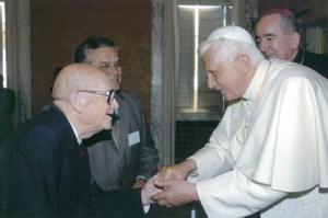 Eduardo Bonin and Pope Benedict XVI